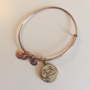 Alex and Ani Rose Gold Cheers Bracelet
